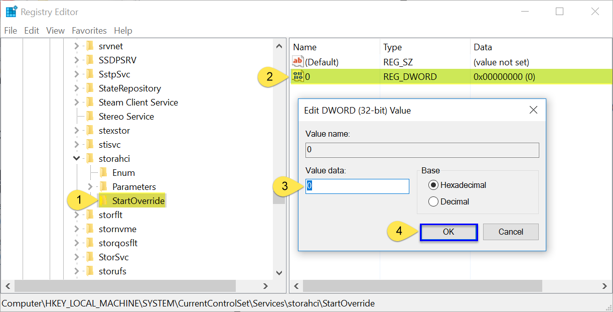 How to Change from IDE to AHCI Controller in Windows 10