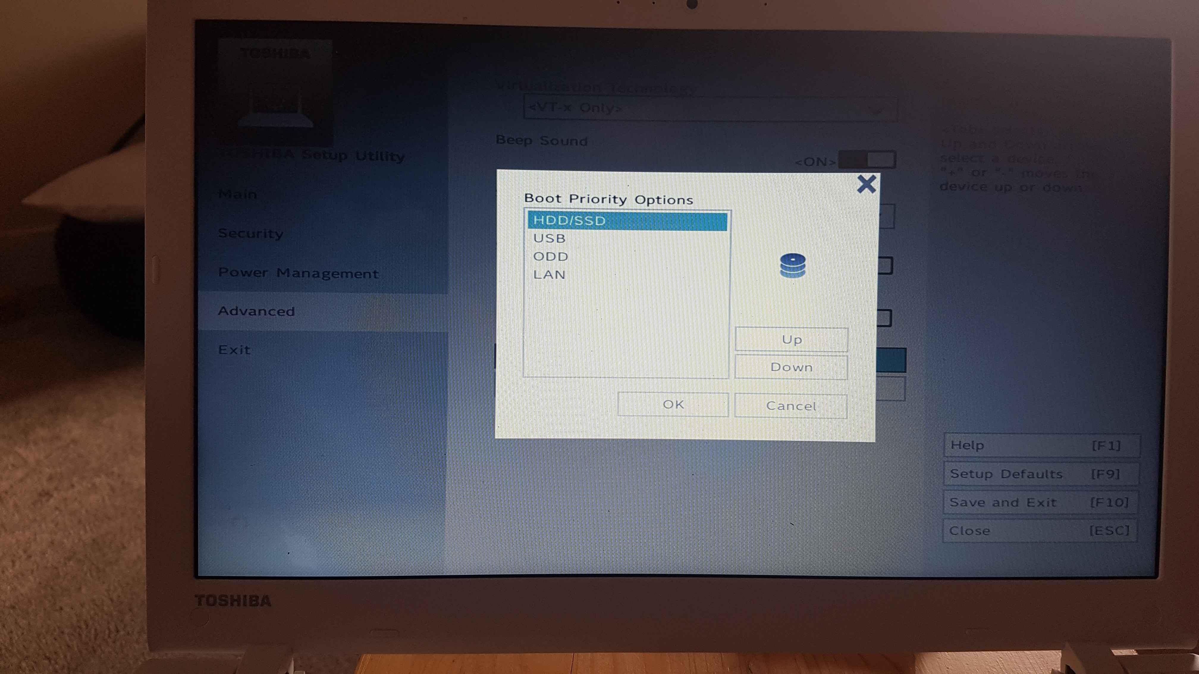 Laptop Error sending End of Post Message to ME, System HALT