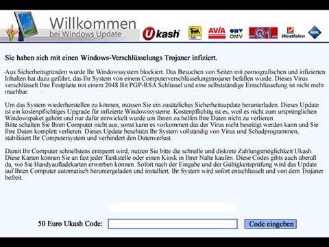 Remove Trojan.Ransom Willkommen bei Windows Update by Britec