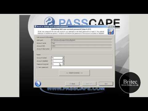 Reset or Remove Forgotten Windows 7 Administrator Password by Britec
