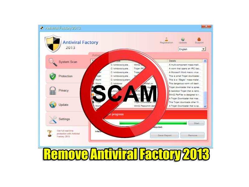 Remove Antiviral Factory 2013