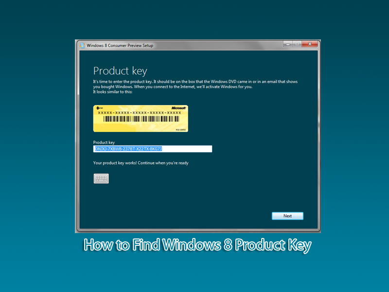 where to find product key windows 8