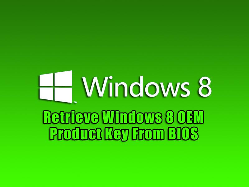 windows 8 oem product key generator