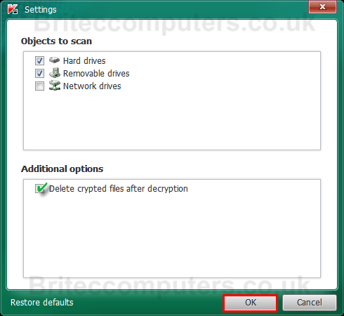 delete-decryption-files after