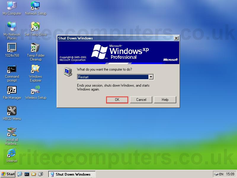 Remove Virus Using Hirens Boot CD -