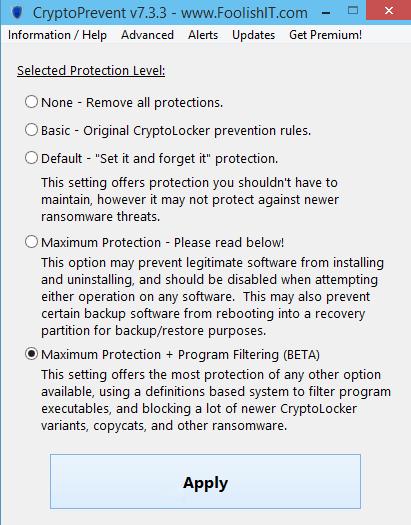 cryptoprevent