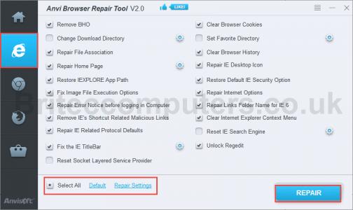 ie-repair-browser