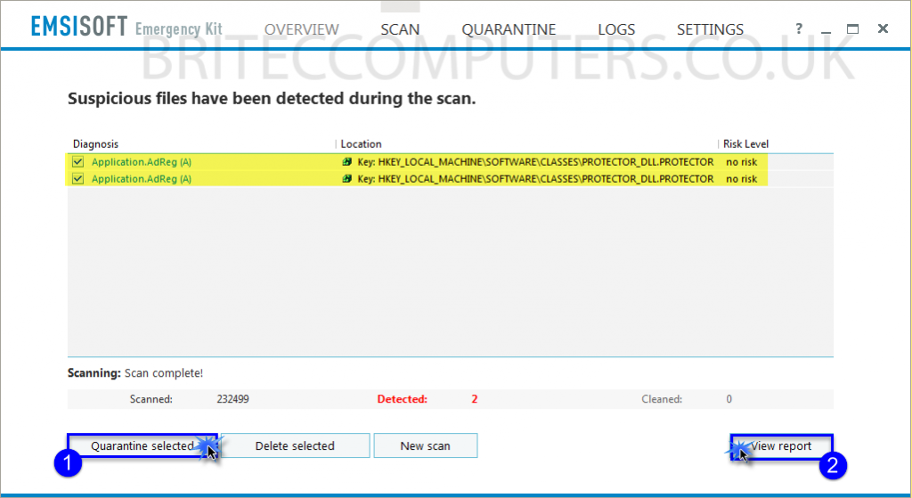 malwarebytes stuck on scan file system