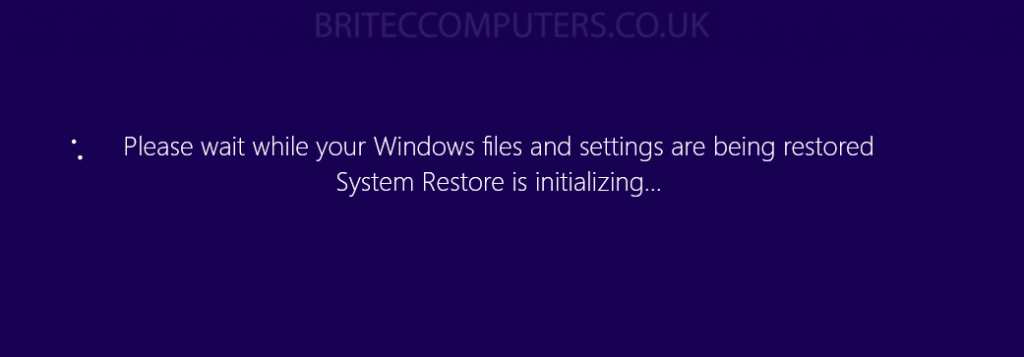 how to use system restore in windows 8