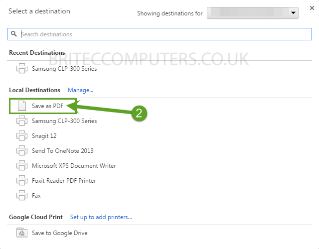 Save Web Page To PDF File in Windows or Mac -