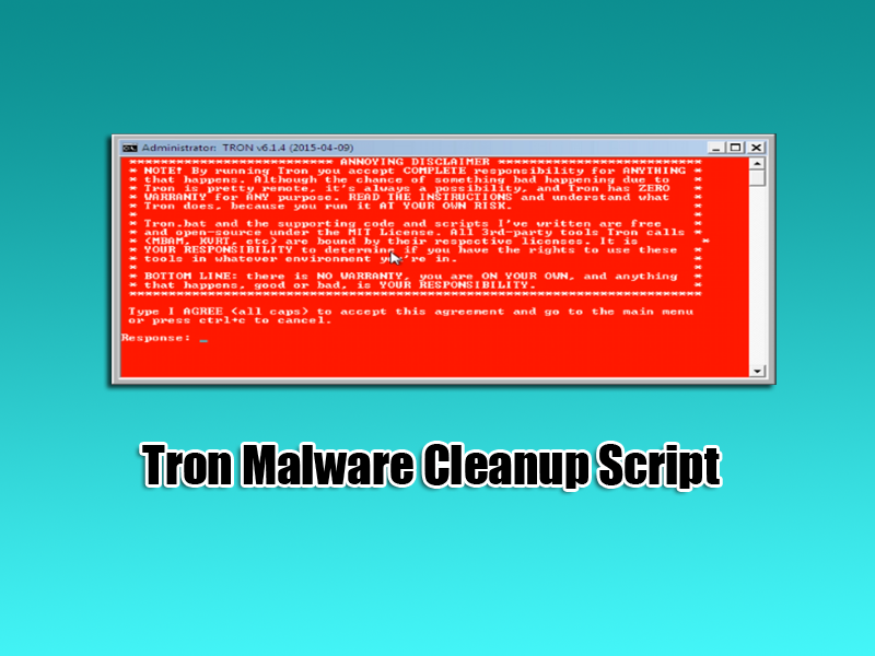 Tron Malware Cleanup Tool Script