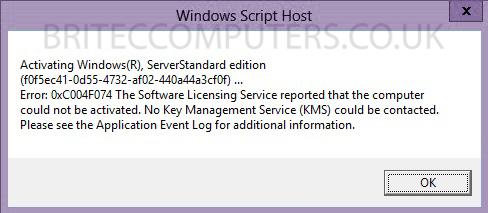 Fix Activation Error 0xc004f074 Windows 8 1 -
