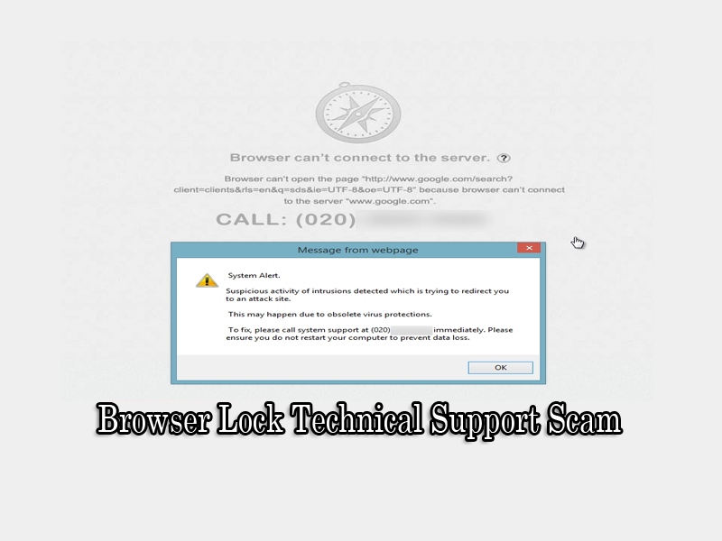 Browser Lock Technical Support Scam