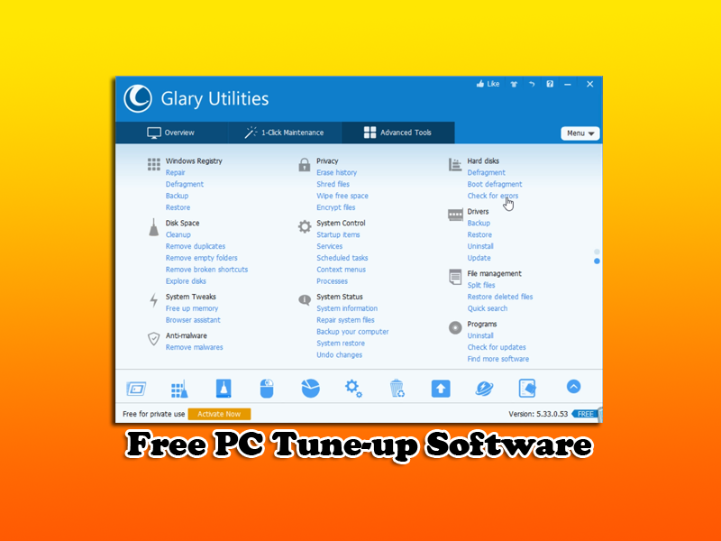 Free PC Tune-up Software