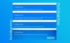 Fix Critical Error: Your start menu isn't working