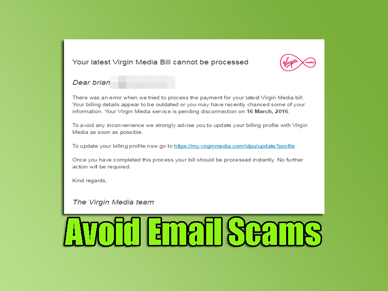 Avoid Email Scams