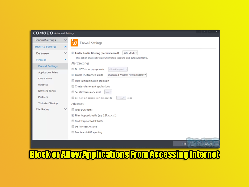 Block or Allow Applications From Accessing Internet