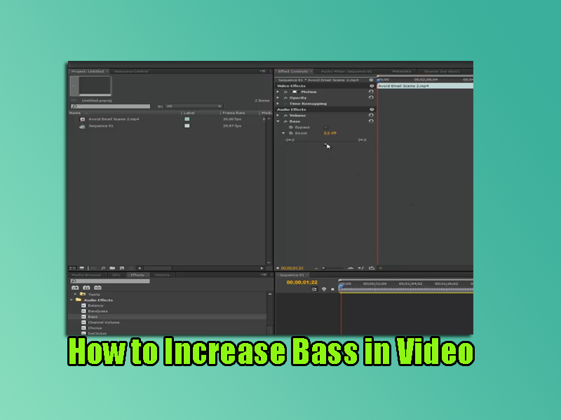 How to Increase Bass in Video