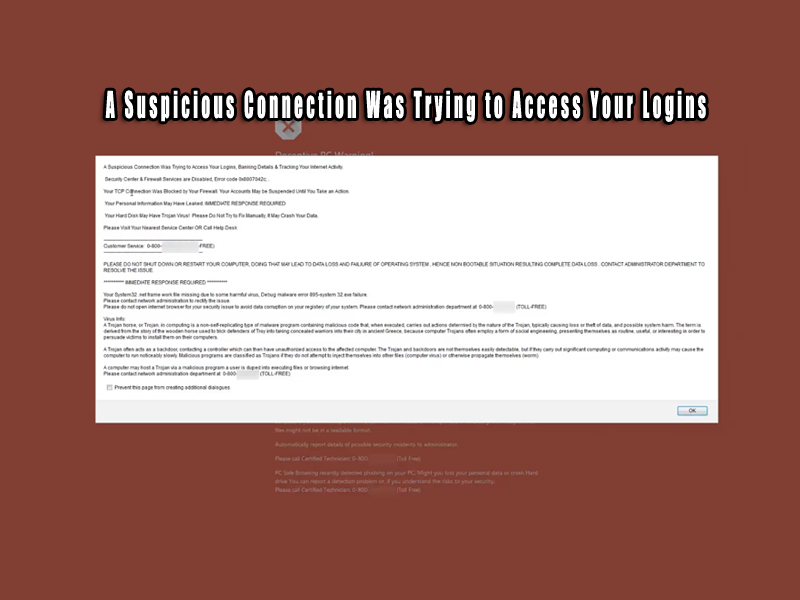 A Suspicious Connection Was Trying to Access Your Logins