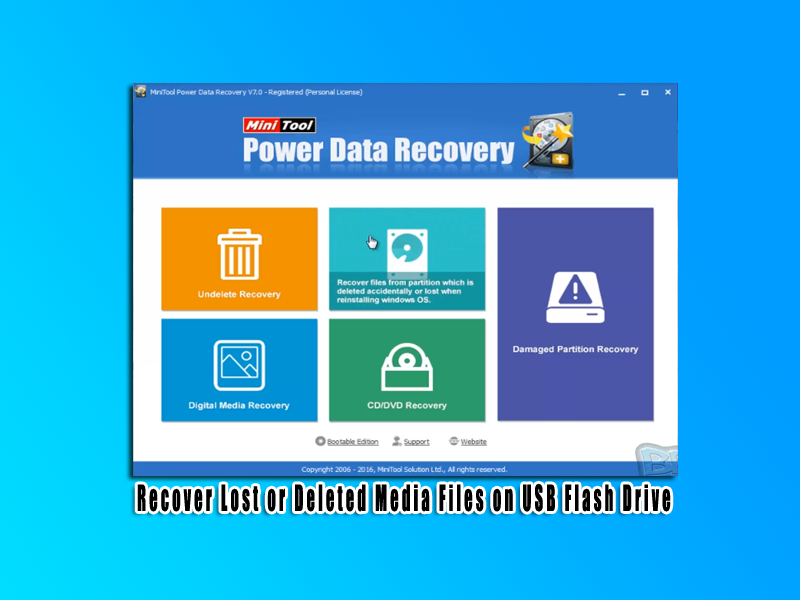 Recover Lost or Deleted Media Files on USB Flash Drive