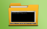 Delete Windows.old via the Command Prompt