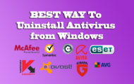 ✔ BEST WAY To Uninstall Antivirus from Windows