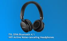 FIIL DIVA Bluetooth 4.1 HiFi Active Noise-canceling Headphones - BLACK