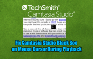 Fix Camtasia Studio Black Box on Mouse Cursor During Playback