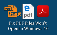 Fix PDF Files Won't Open in Windows 10