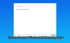 How to Create a Windows 10 Recovery Drive