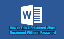 How to Edit A Protected Word Document Without Password