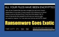 Ransomware Goes Exotic