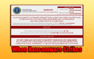When Ransomware Strikes