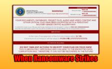 When Ransomware Strikes