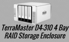 TerraMaster D4-310 4 Bay RAID Storage Enclosure