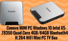 Cenovo MINI PC Windows 10 Intel X5 Z8350 Quad Core
