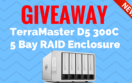 Giveaway - TerraMaster D5 300C 5 Bay RAID Enclosure
