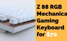 Z 88 RGB Mechanical Gaming Keyboard for $70