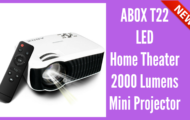 ABOX T22 LED Home Theater 2000 Lumens Mini Projector