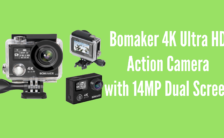 Bomaker 4K Ultra HD Action Camera with 14MP Dual Screen