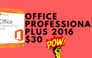 Office Professional Plus 2016 For $30