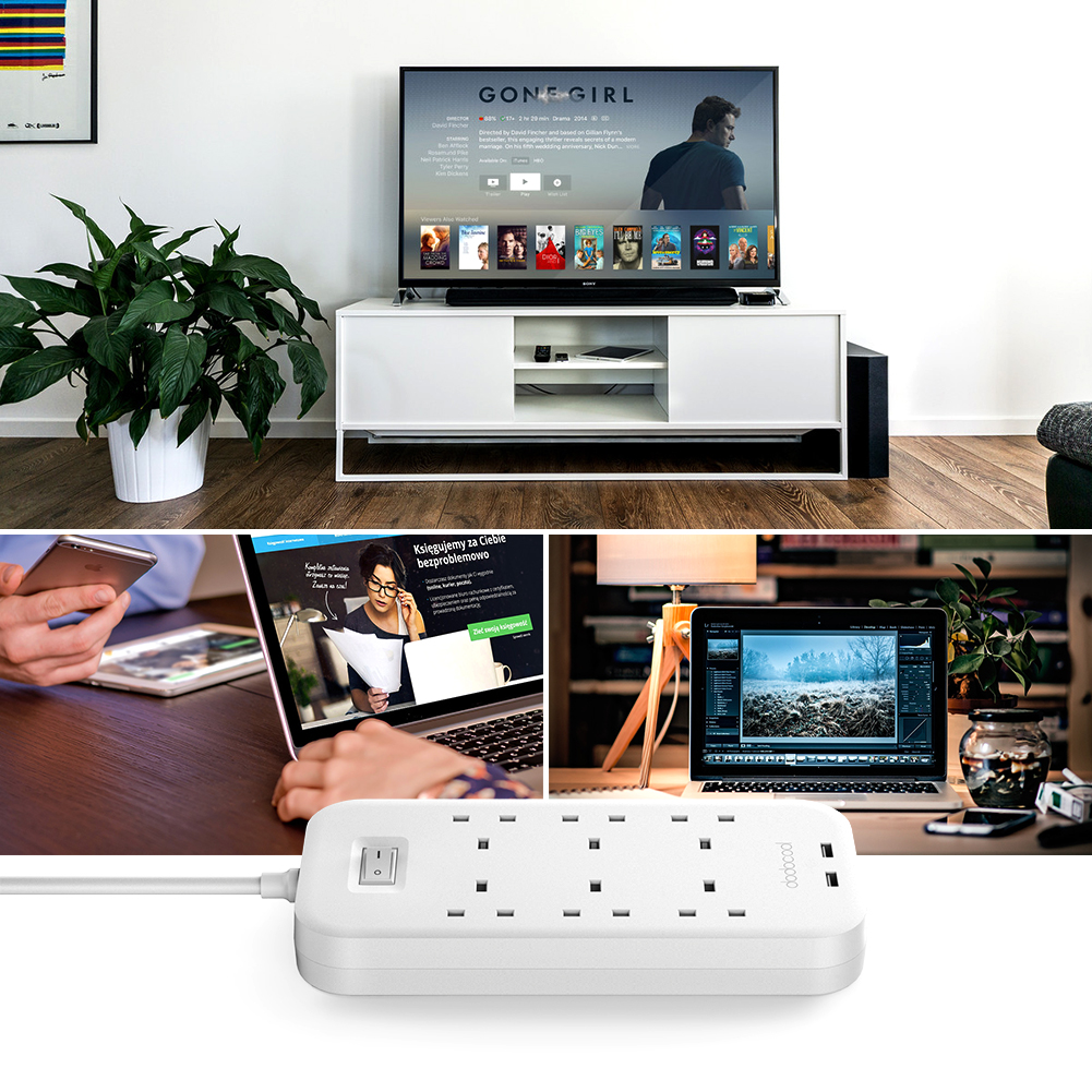 DC41 Smart 6 Way AC Outlet Power Strip