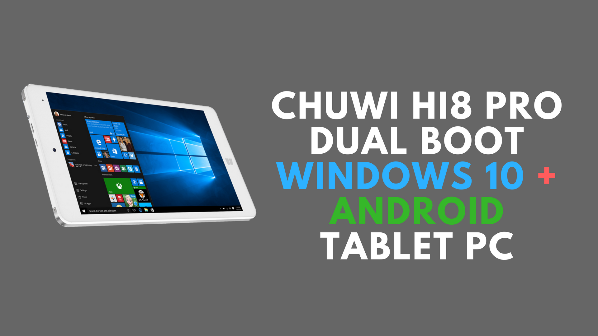 Chuwi Hi8 Pro Dual Boot WINDOWS 10 + ANDROID Tablet PC -