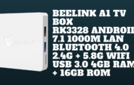 Beelink A1 TV Box RK3328 Android 7.1 1000M LAN Bluetooth 4.0 2.4G + 5.8G WiFi USB 3.0 4GB RAM + 16GB ROM