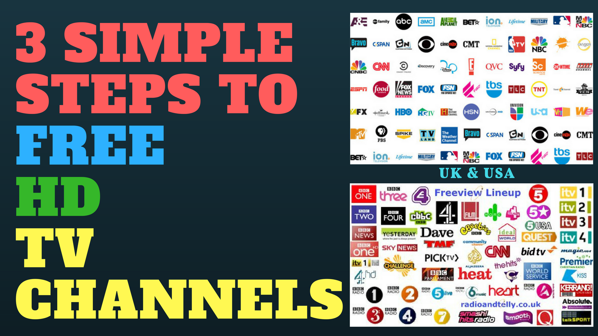 3 Simple Steps to FREE TV Channels -