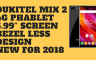 Oukitel MIX 2 4G Phablet 5.99 Inch Screen Bezel Less Design 2018