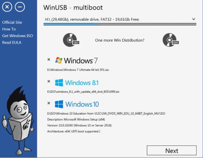 Ultimate Bootable USB WinUSB