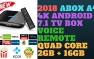 2018 ABOX A4 4K Android 7.1 TV BOX Voice Remote Quad Core 2GB +16GB