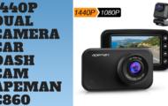 1440P Dual Camera Car Dash Cam - Apeman C860
