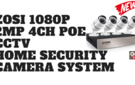 ZOSI 1080P 2 0MP 4CH POE CCTV Home Security Camera System